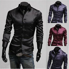 New Fashion Men Luxury Casual Stylish Slim Fit Long Sleeve Casual Dress Shirts s