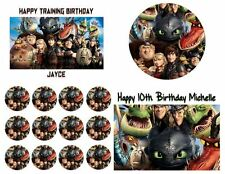 HOW TO TRAIN A DRAGON Party Edible Image Cake Frosting Topper