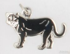 Silver-toned fancy panther fob, with various watch chain options