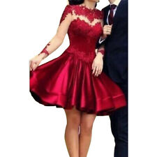 Lady Dress Ball Gown Party Cocktail Evening Prom Sexy Grenadine Red Short Dress