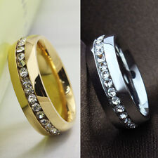 Trendy Crystal Rhinestone Beauty Finger Ring Gold Sliver Couples Jewelry Ring
