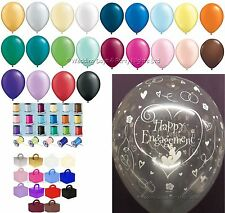 15 Table Kit Happy Engagement Helium Balloons Ribbon Weights Party Decorations