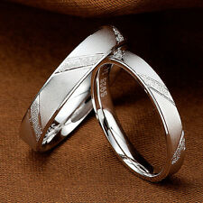 Fashion Men Women Jane Love Silver Couple Rings Lovers Wedding Band Promise Ring