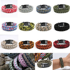 Survival Bracelet Outdoor Self-rescue Paracord Parachute Cord Whistle Buckle