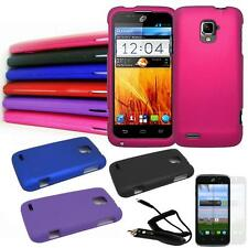 Phone Case For ZTE Rapido LTE Z932L Hard Cover Car Charger Screen Protector