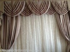 "FREE CURTAINS WITH THESE SWAGS AND TAILS SETS, FITS UP TO 105"" WIDTH X 88"" DROP"