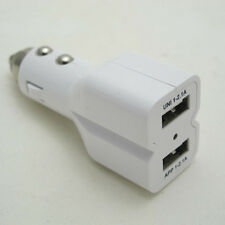 New in Box White Dual USB Port 4.2A Universal Bullet Car Charger for Cell Phones