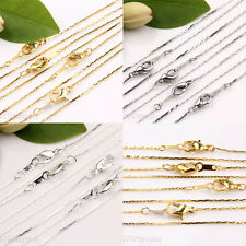 5/20PCS Lobster Clasp 18KGP Copper Chain Necklace Jewelry Finding Length 43cm
