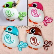 Sparrow Shape Toothbrush Toothpaste Holder Seat Bath Decor Accessories Birds