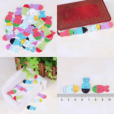 New Fashion Bulk Craft Fish Sewing Wooden Buttons Scrapbooking 2 Holes Gift