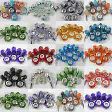New 10Pcs Glass Loose Spacer Big Hole Lampwork Beads Fit Charm Bracelet