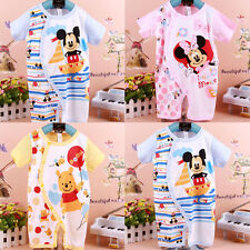 Newborn Baby Boy Girl Minnie Mickey Mouse 0-18M Cartoon Romper Clothes One-Piece