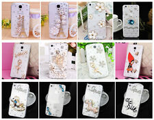 Bling Transparent Clear Crystal Diamonds Hard Case Cover Skin for Apple LG Nokia