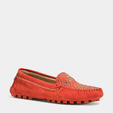 COACH Women's Shoes ALANA LOAFER Suede Flats Watermelon  A4608