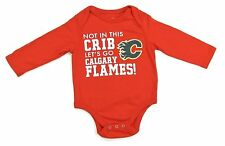 Calgary Flames Not In This Crib Infant/Baby Red Long Sleeve Creeper