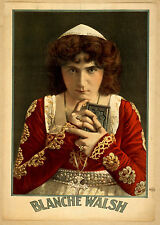 Photo Print Vintage Poster: Theatre Flyer 1800s Blanche Walsh 02