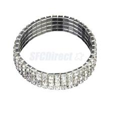 Clear Crystal Rhinestone Stretch Bracelet Bangle Wedding Bridal Party Wristband