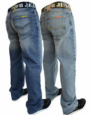 MENS JEANS NEW BOOTCUT FLARE BLUE FLARED WIDE WAIST 28 30 32 34 36 38 40 42