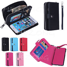 Nice Leather Removable Dual Card Photo Frame Wallet Case Cover For iPhone 4 5 6