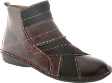 SPRING STEP Womens Groove Ankle Booties Boots Brown Leather/Suede GROOVE-BR
