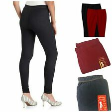 New Faded Glory Women's Knit Stretch Fitted Leggings Black S M L XL XXL 1X 2X 3X