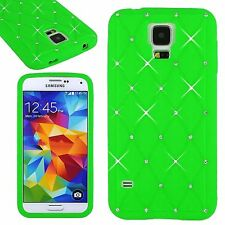 Lovely Green Soft Bling Crystal Diamond Silicone Case Cover For Various Phones