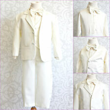 Elegant Boy ivory tuxedo wedding party formal dresss suit 5 pc set all sizes