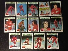 1975-76 OPC DETROIT RED WINGS Select from LIST SEE SCAN CARDS O-PEE-CHEE