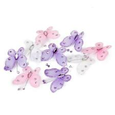 50 Wired Nylon Stocking Glitter Butterfly Wedding Party Card Craft Embellishment