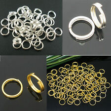 Gold/Silver Open Double Split Jump Rings Connectors Findings 4/5/6/8/10/12/14mm