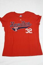 NEW Womens MAJESTIC Texas RANGERS Josh HAMILTON #32 Baseball MLB Red T-Shirt
