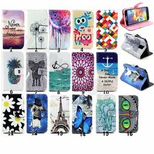 1pc Fashion Lovely PU Leather Flip Stand Card Wallet Case Cover For Cele Phones