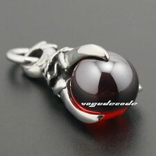 Dragon Claw & Dragon Ball 316L Stainless Steel Mens Punk Biker Pendant 4P018A