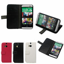 Wallet Book Flip PU Leather Stand Card Slot Pouch Case Cover For HTC One 2 M8