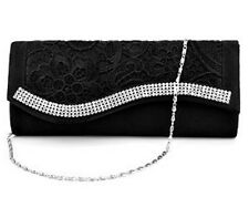 Lace Satin Clutch Bag Women Bridal Wedding Evening Party Ball Handbag Purse Case