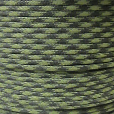 Grass 100 ft 550 Paracord 7 Strand Parachute OD Green Moss Camouflage Pattern