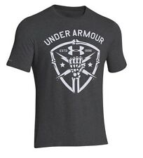 Under Armour 1251685 Men's Carbon Heather UA Black Ops Fist Short Sleeve T-Shirt