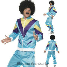 CL404 Mens 80's Height Fashion Scouser Tracksuit Shell Suit Costume Fancy Dress