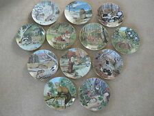 """The Woodland Year, 9"""" Collector Plates, Nature, Seasons, Months, Wildlife"""