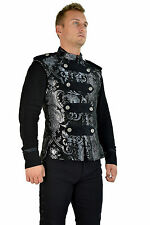 SHRINE LEGION VEST GOTHIC  JACKET MILITARY UNIFORM ROCK BAND VEST GOTH STEAMPUNK