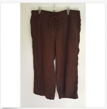 NEW Liz Claiborne LIZWEAR LINEN CAPRI Pick: Green Blue Brown Size: 4 6 8 10 12
