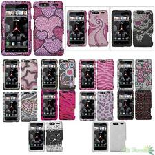 Hard Phone Case Cover For MOTOROLA XT912M(Droid Razr Maxx) Bling Rhinestones