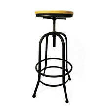 Vintage Retro Industrial Steel Bar Stools Kitchen Dining Counter Chairs