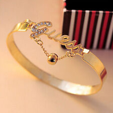 New Fashion Bell Letter Rhinestone Bracelet Chain Cuff Bangle For Women