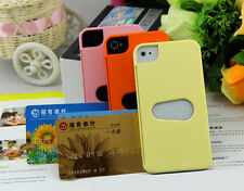 Hot New Layer Credit ID Card Wallet Holder Hard Back Case Cover for iPhone 4 4S