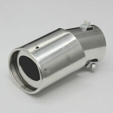 Universal Fits Car Stainless Steel Chrome Round EXHAUST Tail Muffler Tip Pipe