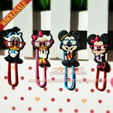 4pcs/set Mickey Paper Clips Bookmarks,School Supplies Stationery,Kids Party Gift