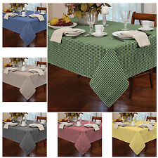 Premium Dyed Gingham Check Table Cloth - For Kitchen Dining Table Cover