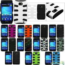Fishbone Hybrid Protector Case Cover For AT&T SAMSUNG i777(Galaxy S II)