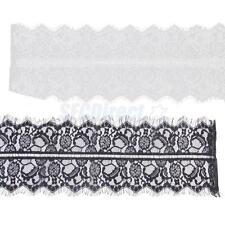 3yds Vintage Eyelash Guipure Lace Trims Wedding Doll Dress Sewing Trimmings 21cm
